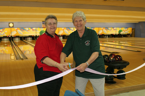 Opening Ceremonies - Elaine and Mary Ann Cutting the Ribbon